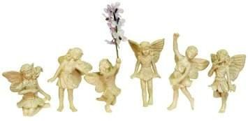 Echo Valley 6 Piece Fairy Figure Set Enchanted Gardens