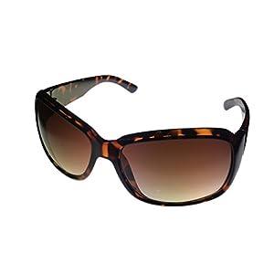 Kenneth Cole Reaction Women's Rectangle Havana Sunglasses