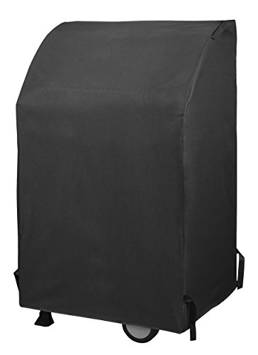 (UNICOOK Heavy Duty Waterproof Two Burner Gas Grill Cover, 32-Inch Width BBQ Cover, Small Space Grill Cover, Fade Resistant, Fit Grills with Collapsed Side Tables for Weber Char-Broil and More)