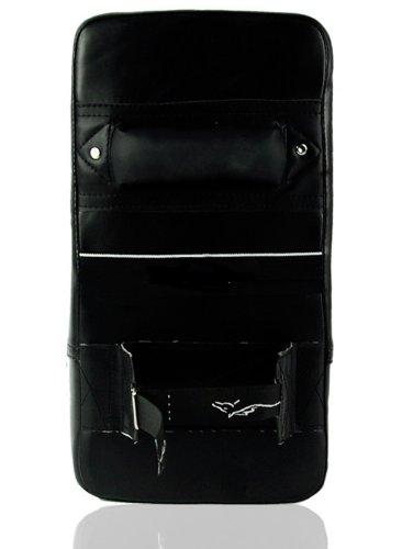 Pao Bouclier de frappe Boxe Karat/é Art Martiaux 38x20x10cm CUIR NOIR
