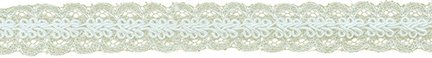 12x12 Oyster - Decorative Trimmings 06550-8-012Y-020 Gimp Over Galloon Lace Trim 3/4