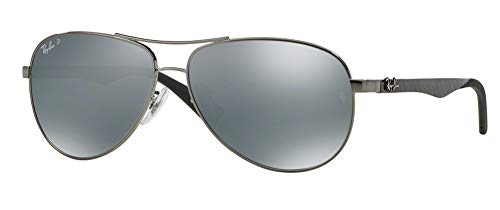 Ray-Ban Men's Rb8313 Carbon Fiber Double Brow Bar Pilot Aviator Sunglasses