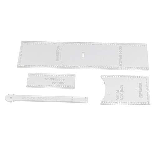 (SM SunniMix Leather Acrylic Wallet Card Holder Purse Handbag Clutch Pattern Stencil Template Tool Set )