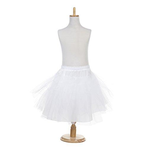 AW Girls Tulle Petticoat Hoopless Kids Soft Half Slip Tutu Skirt Dress