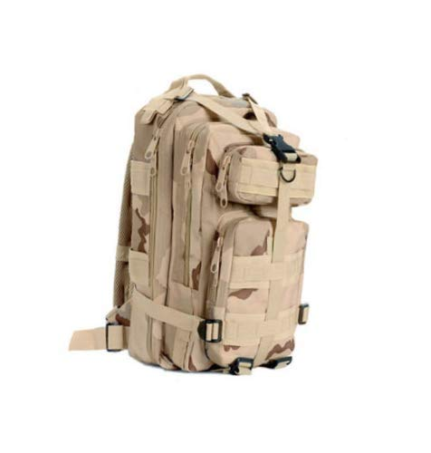 (Military Backpack 30L Tri-Color Desert Camo Outdoor Military Camping Hiking Trekking Backpack)