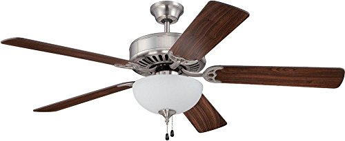 52' Builder Fan Collection - Craftmade K11102 Ceiling Fan Motor with Blades Included, 52