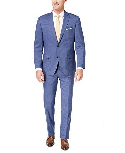 Michael Kors Mens 44S Pinstriped Two Button Wool Suit ()