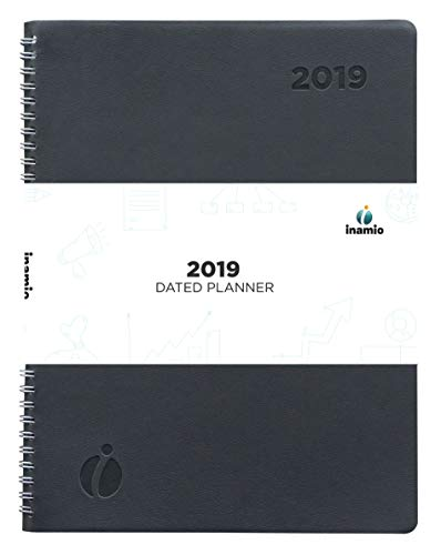 (2019 Weekly Planner and Monthly Planner – Hourly Appointment Book with Flexible Cover, Twin-Wire Binding – Simple Design Inspires Productivity, 8.5
