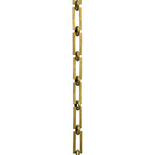 Antique Square Planter (RCH Hardware CH-01-AB-3 Decorative Antique Solid Brass Chain for Hanging, Lighting - Rectangular Square Edge and Unwelded Links (3 ft/1 Yard))