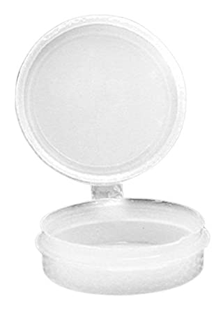 Dynalon 226254-0050 Polyethylene Resin Hinged Lid Lab Storage and Specimen Container, 0.5oz Capacity (Case of 100)