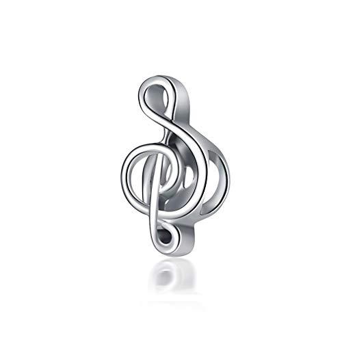 Original Silver Plated Bead Alloy Home Book Music Coffee Apple Pendant Pandora Bracelet Necklace Women Jewelry Music