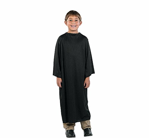 [BLACK GOWN/ ROBE CHILD IN BLACK (NATIVITY, COSTUME, DRESS-UP, HALLOWEEN)] (In The Spotlight Costumes)