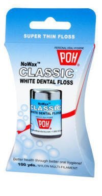 POH Dental Floss Unwaxed, 100 Yard- 4 Pack by POH