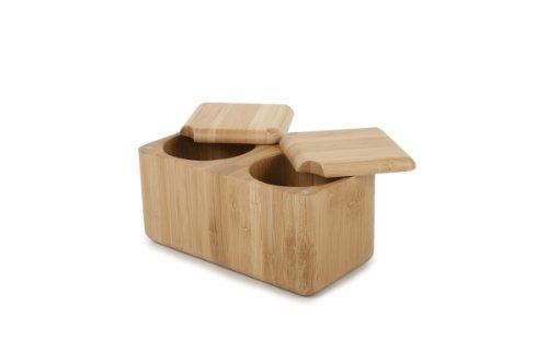 (Core Bamboo Double Square Salt Box)