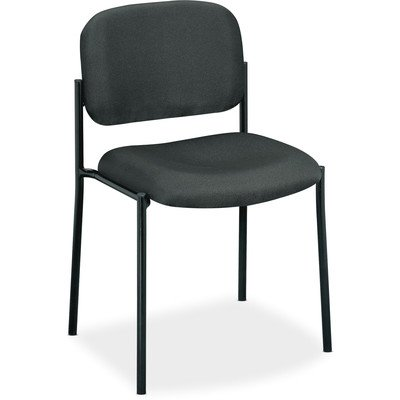 Four-High Armless Office Stacking Chair Seat Finish: Charcoal by basyx by HON