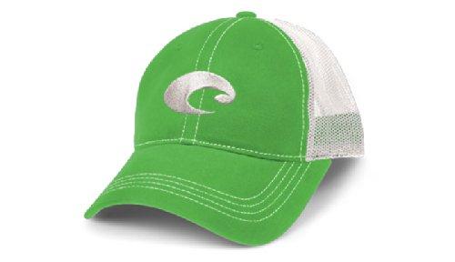 Costa Del Mar Mesh Hat, Spring Green/White