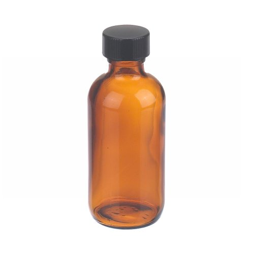 wheaton-w216854-boston-round-bottle-amber-glass-capacity-2oz-with-20-400-black-phenolic-rubber-lined