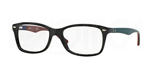 Eyeglasses Ray-Ban Vista RX 5228 5544 50mm - Black with Blue-Red-Teal - Ray Rx Ban 5228