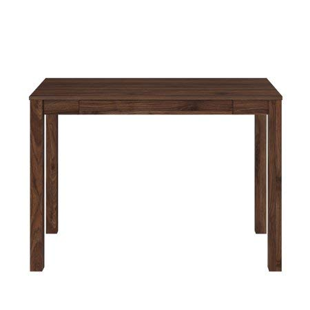 - Mainstays Parsons Writing Desk with Storage Drawer, Canyon Walnut