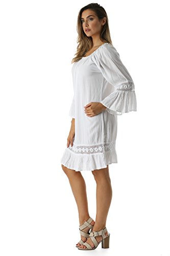 Buy long white eyelet dress