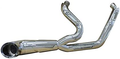 Bagger Brothers BB-FE2000-CHR-Apollo-CH Maverick 2-Into-1 Exhaust for 1996-2016 Harley-Davidson Touring//Dresser headers and Chrome Alpha Billet Tip