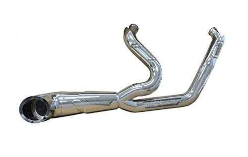 Bagger Brothers BB-FE2000-CHR-Apollo-CH Sidewinder 2-Into-1 Exhaust for 1996-2016 Harley-Davidson Touring/Dresser headers and Chrome Alpha Billet Tip