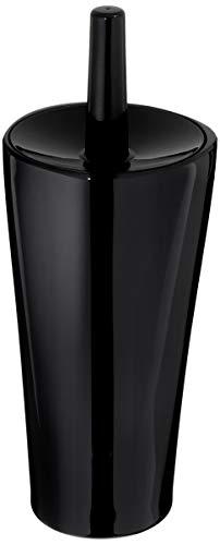 AmazonBasics Toilet Bowl Brush and Holder - Liquid Black (Black Toilet Brush)