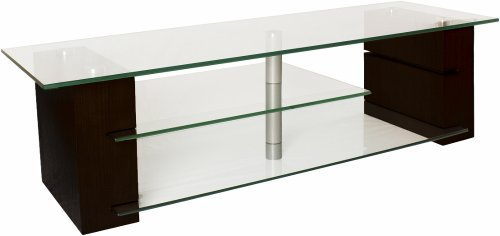 The SL Series Modern Glass Top Accent Table Collection by Plateau - Sl Series Accent Table