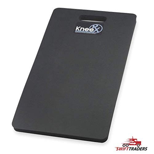 2-Pack Heavy-Duty Kneeling Pads, 22'' L x 12'' W, Black, Perfect for Kneeling On Gravel, Asphalt, Concrete, Dirt, Oily Surfaces, or Grass - With General Purpose Gloves Bundle by NTRX (Image #1)