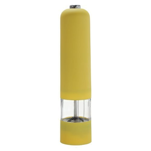 HUAJI Electric Kitchen Spice Salt Pepper Mill Miller Grinder-Yellow