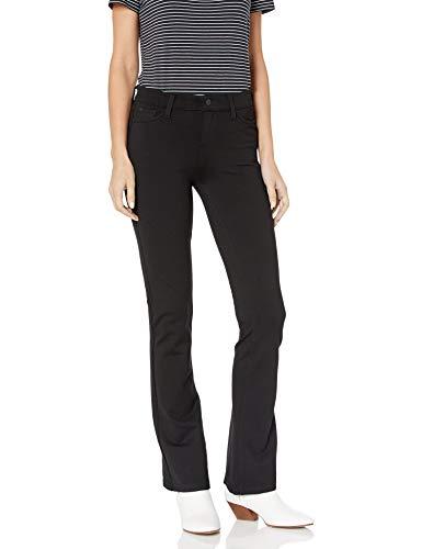 Celebrity Pink Jeans Women's Power Ponte Mid Rise Boot Cut, Black, 15