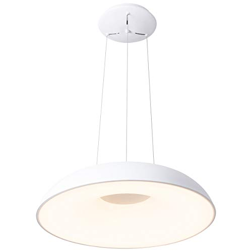 ROYAL PEARL Modern LED Pendant Light Foyer Chandelier Adjustable Contemporary Hanging Ceiling Lighting for Dining Living Room Bedroom Kitchen White 48W