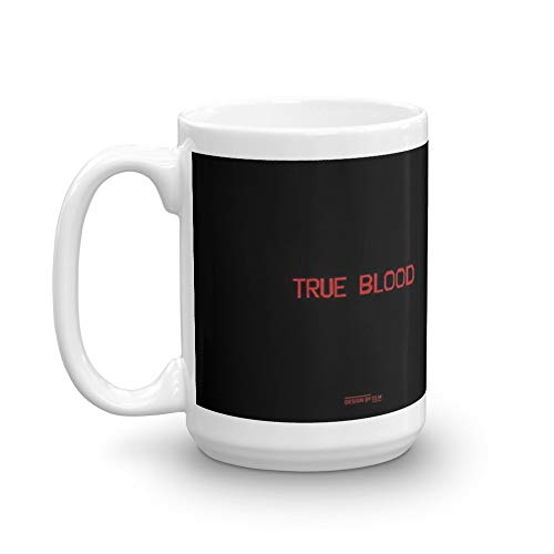 True Blood Logos. 15 Oz Ceramic Glossy Mugs Gift For Coffee Lover Unique Coffee Mug, Coffee Cup. 15 Oz Fine Ceramic Mug With Flawless Glaze Finish ()