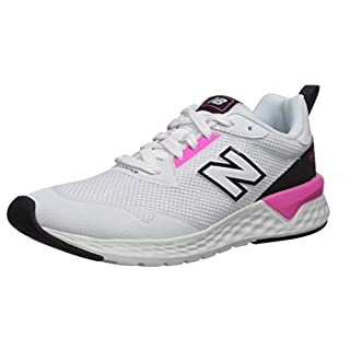 New Balance Women's Fresh Foam 515 Sport V2 Sneaker, White/Peony/Black, 5 W US