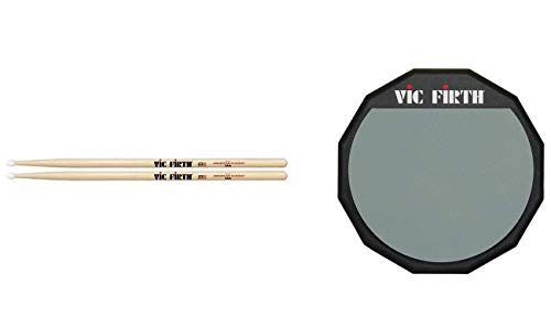 (Vic Firth American Classic 7A Nylon tip Drumsticks with Vic Firth Single-sided 6