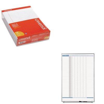 KITQRT33705UNV20630 - Value Kit - Quartet Matrix Employee Tracking Board (QRT33705) and Universal Perforated Edge Writing Pad (UNV20630) by Quartet