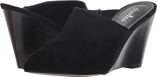 CHARLES BY CHARLES DAVID Women's Ezequiel Slip-On Wedge Mule Black 7 M US M