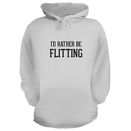 16 Bit Graphics Tv - BH Cool Designs I'd Rather Be Flitting - Graphic Hoodie Sweatshirt, White, XX-Large