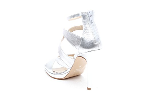 Scarpe italiane sandali tacco a spillo argento