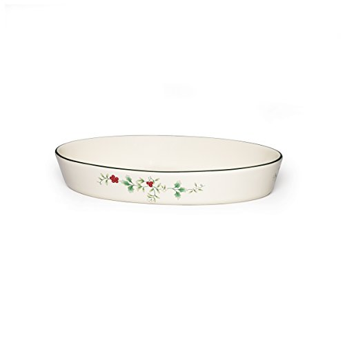 Stoneware Square Baker Covered (Pfaltzgraff Winterberry Oval Baker Stoneware Gift Box, 11