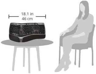 Microsoft Keyboard 4000 German Black USB Split Keypad Natural Ergo B2M-00001 Black USB Split Keypad
