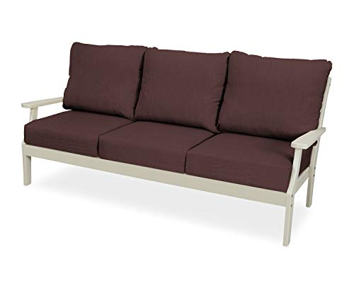 Trex Outdoor Furniture Yacht Club Sofa, Sand Castle/Cast ()