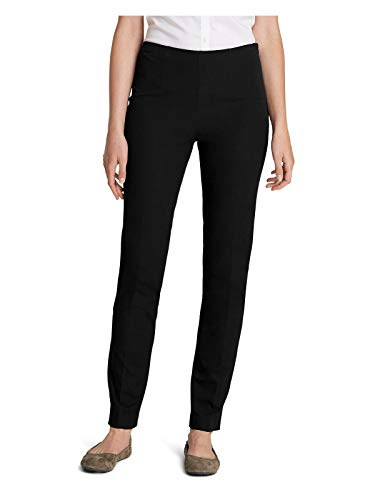 Eddie Bauer Women's Bremerton StayShape Stretch Twill Pants, Black Regular 8 Reg