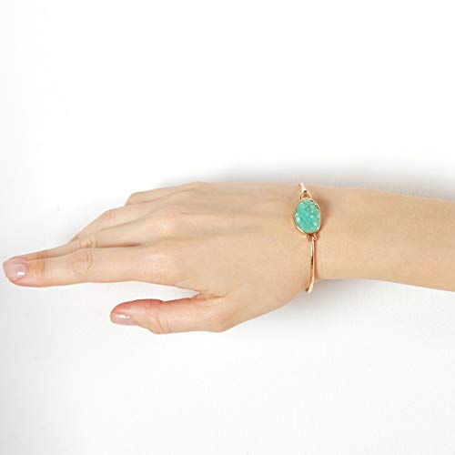 1fe44ab53 Humble Chic Simulated Druzy Cuff - Stackable Simple Thin Wire Gold-Tone  Bangle Bracelets for