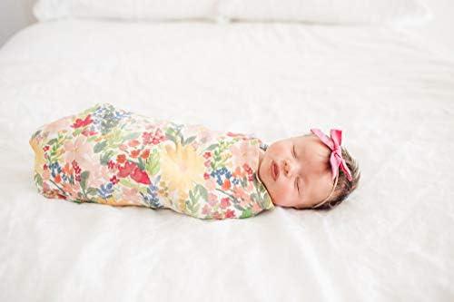 9.6 Ounces Copper Pearl Large Premium Knit Baby Swaddle Receiving BlanketLark