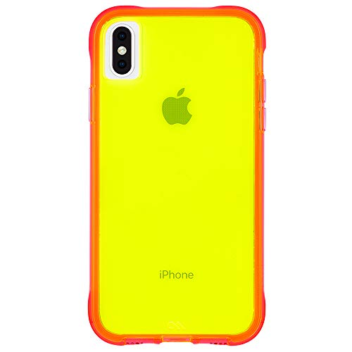 Case-Mate - iPhone XS Max Case - TOUGH - iPhone 6.5 - Green/Pink Neon - Neon Pink Green
