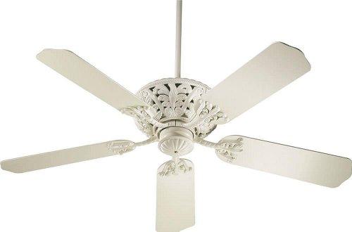 Antique White Ceiling Fan - Quorum 85525-67, Windsor Antique White Energy Star 52