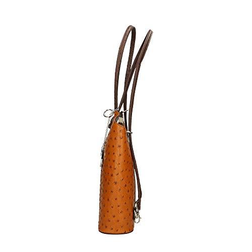 28x30x9 Moro Borse Testa Italy Cm Pelle Spalla Made Di Bag Chicca Borsa A In Cuoio za67qdx