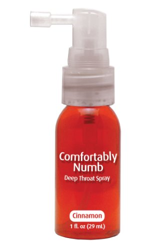 COMFORTABLY NUMB DEEP THROAT SPRAY - CINNAMON a pipedream product by Pipedream