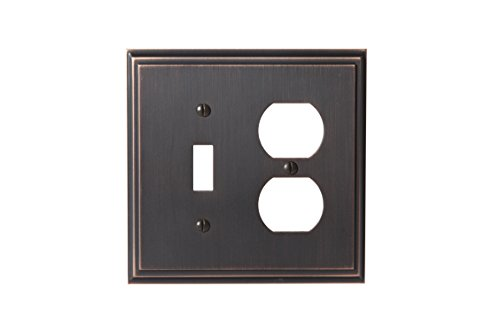 Amerock BP36524ORB Mulholland 1 Toggle, 1 Receptacle Wall Plate - Oil-Rubbed Bronze Amerock Mulholland Cabinet Knob